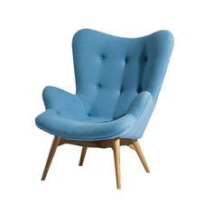 Paddington Lounge Chair in Sky Blue
