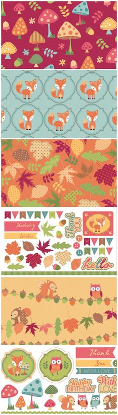 Free digital papers and toppers – Autumn Friends. Download them from the Papercraft Inspirations website!