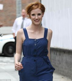 Jessica Chastain! Quickly climbing the ranks as one of my new favourite actors. And I now want to chop off my hair.