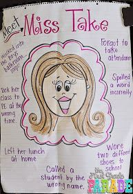 The First Grade Parade: Celebrating Mistakes. A great way to create a risk-free classroom environment! Future Classroom, School Classroom, Classroom Ideas, Classroom Procedures, Classroom Behavior, Classroom Posters, First Grade Parade, First Day First Grade, First Grade Lessons