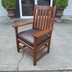 Beau Antiques By Design   L U0026 J G Stickley Mission Oak Arm Chair