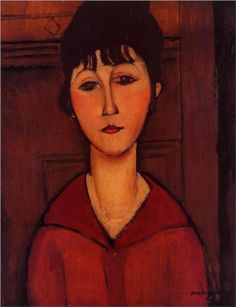 Head of a Young Girl - Amedeo Modigliani