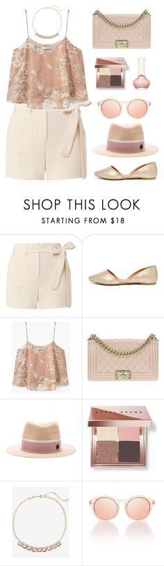 """""""Untitled #1080"""" by celida-loves-pink ❤ liked on Polyvore featuring Helmut Lang, Qupid, MANGO, Chanel, Maison Michel, Bobbi Brown Cosmetics, Express, Paul & Joe Beaute, Summer and floral"""