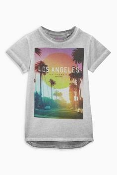 Buy Grey Los Angeles T-Shirt (3-16yrs) online today at Next: United States of America