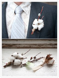 cotton boutonnieres