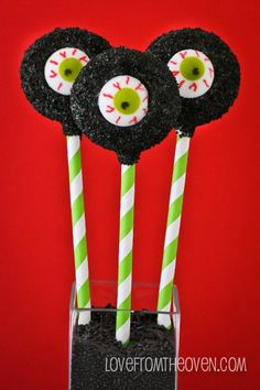 I've Got My Eye On You - Oreo Cookie Pops for Halloween.