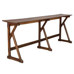 extra long 19th century french beechwood console - Skinny Console Table
