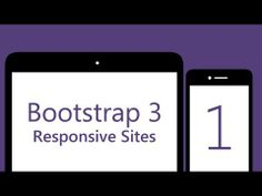 Bootstrap 3 Tutorials - # 1 - Build a responsive Bootstrap 3 site - YouTube