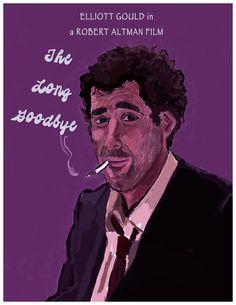 The Long Goodbye Art Print by AdrockHoward - X-Small Robert Altman, The Long Goodbye, Long A, Movie Tv, Cinema, Art Prints, Film, Movie Posters, Fictional Characters
