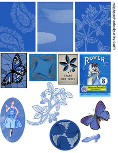 Free Digital Collage Sheet--BLUE | Flickr - Photo Sharing!