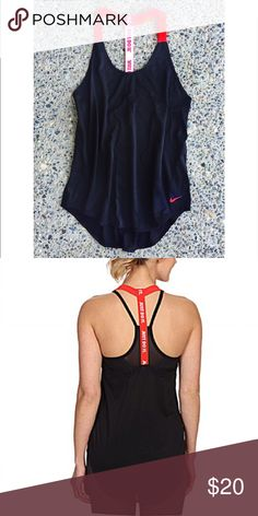 Nike Elastiska Tank Perfect for training in the gym and layering over your favorite bright sports bra, 81% polyester, 19% spandex, loose fitting, machine wash cold.  NWOT. Nike Tops Tank Tops