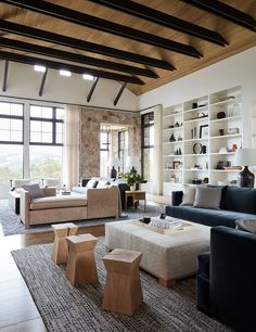 Calistoga II Great Room Living Family Room Rustic Modern Farmhouse by Jennifer Robin Interiors Interior Design Portfolios, Interior Desing, Interior Architecture, Room Interior, Interior Inspiration, Modern Interior, Room Inspiration, Modern Ranch, Modern Farmhouse Style