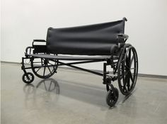 Cadillac (So we can grow older together better), 2011. Wheelchair, aluminum, vinyl. 60 x 34 x 20 inches. Photo courtesy of artist Layet Johnson.