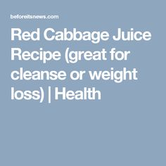 Red Cabbage Juice Re