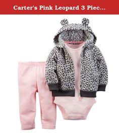 Carter's Pink Leopard 3 Piece Pant Set 6 Months. Carter's Pink Leopard 3 Piece Pant Set 6 Months.