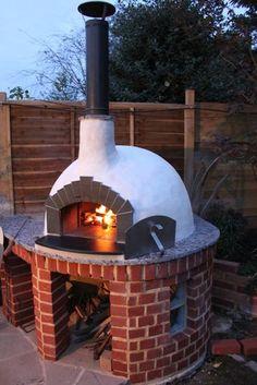 Perfect Pizza at home! http://www.thestonebakeovencompany.co.uk/shop/wood-pizza-ovens/mezzo/