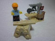 LEGO 71008 Minifigures Series 13 Carpenter with sawhorse & custom mitre saw #LEGO