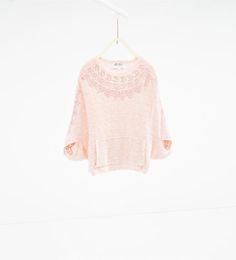 Image 1 of Knit poncho from Zara