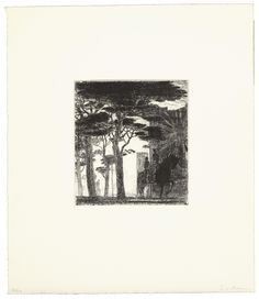 Fifty Etchings XX by Christopher Le Brun - Paragon Etchings, Contemporary, Printmaking, Brown