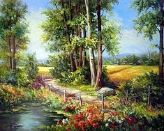Find More Diamond Painting Cross Stitch Information about Diy 5d diamond painting cross stitch arts resin rubik diamond mosaic beaded embroidery Country landscape handicraft decoration,High Quality painting cross stitch,China diy 5d diamond painting Suppliers, Cheap 5d diamond painting from che Store on Aliexpress.com Scenery Paintings, Cross Paintings, Road Painting, Painting & Drawing, Pictures To Paint, Art Pictures, Landscape Art, Landscape Paintings, Polychromos