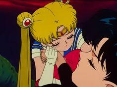 """""""Sailor Moon R"""" - Sailor Moon and Mamoru."""