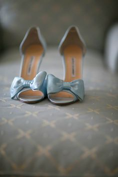 blue satin bows // photo by Tammy Swales
