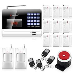 KERUI Black Color N6120G Home GSM Wireless Security Alarm System  2PCS Wireless PIR Motion Infrared Detector9PCS Wireless Door  Window Sensor *** You can get additional details at the image link. (Note:Amazon affiliate link)