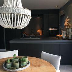 Look inside # bee - Einrichtungsstil Cafe Interior, Best Interior Design, Kitchen Interior, Kitchen Decor, Kitchen Design, Interior Doors, Black Kitchens, Home Kitchens, Dark Interiors