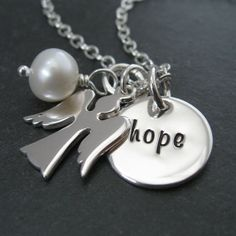 My Sweet Angel Hand Stamped Necklace Personalized by CandaceKane, $42.00