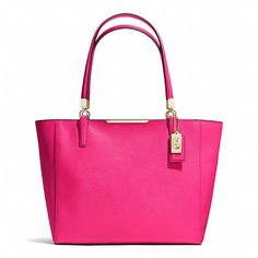 Hot Pink Leather Tote Bag by Coach. Buy for $209 from Coach