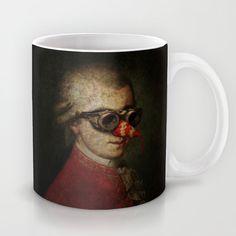 Surreal Steampunk Mozart Mug by Paul Stickland For #StrangeStore | Society6 #funnymugs