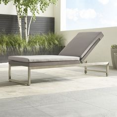 Dune Chaise Lounge with Sunbrella ® Cushion - Crate and Barrel
