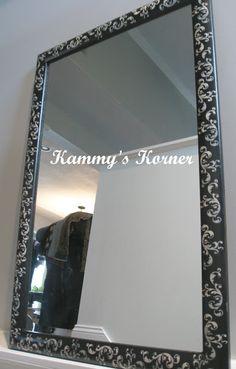 Damask Mirrors Damask stenciled mirror damask stencil stenciling and damasks kammys korner stenciled mirror 3 sisterspd