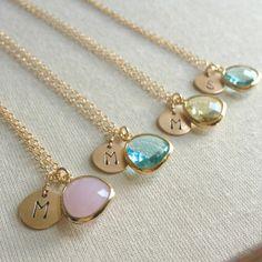 Set of 4 Pastel Bridesmaid Jewelry Vintage by anatoliantaledesign, $125.00