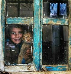 Sunshine from the inside of the window! Precious Children, Beautiful Children, Beautiful Smile, Animals And Pets, Cute Animals, Cat Window, Window View, Window Frames, Tier Fotos