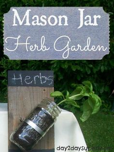 Hometalk :: Mason Jar Herb Garden