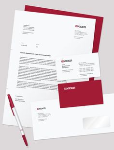 Exider Logo and Stationery by Denis Olenik, via Behance