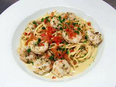 Fresh Pesto Shrimp Pasta Recipe : Robert Irvine : Food Network - FoodNetwork.com