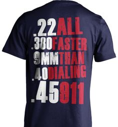 Gun Rights Shirt: All Faster Than 911? Do You Support Gun Rights? Great Gun Rights Gift! Lots Of Sizes & Colors. Like Gun For Protection, 2nd Amendment and Gun Rights Shirts? Strict Limit Of 5 Shirts! Treat Yourself & Click Now!https://teespring.com/KN64-428#pid=2&cid=2397&sid=front