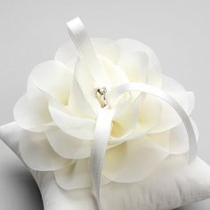 Wedding ring pillow, bridal ring pillow, flower ring pillow - Aria on Etsy, $44.63 AUD