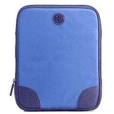 Tory Burch Nylon Robinson E-Tablet iPad Sleeve Case  Jelly Blue