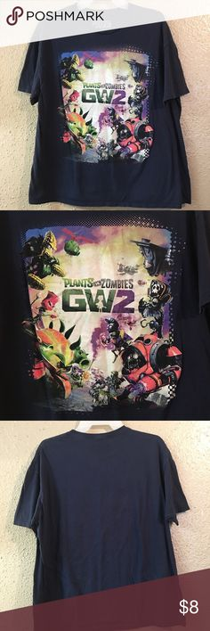 50% off bundles GW2 Planets vs Zombies• Sz L• Vintage tshirts• used but still good condition planets vs zombies Shirts Tees - Short Sleeve