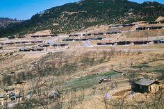 1960년대 이태원. 뒤에보이는 산이 남산.