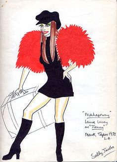 The Rise and Fall of the City of Mahagonny (Jenny). Mark Taper Forum. Costume design by Sally Jacobs. 1973