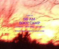 Monday is always such a busy day! And now it starts earlier, at 515 AM. Last boot camp tonite starts at 6 PM, almost 13 hours to chose from. Make time, not excuses. www.BeckasBootCamp.com