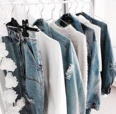Denim October 31 2019 at fashion-inspo Streetwear Mode, Streetwear Fashion, Style Outfits, Cute Outfits, Summer Outfits, Fresh Outfits, Winter Outfits, Chic Minimalista, Look Girl