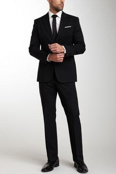 Solid Black Suit by Giorgio Armani Uomo on @HauteLook #classic #suit #armani