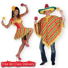 Mexican fancy dress adult couples costumes poncho #carnival #spanish #amigo tequi,  View more on the LINK: http://www.zeppy.io/product/gb/2/181608979606/
