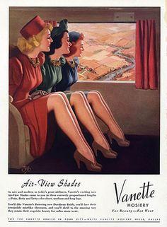 hollyhocksandtulips: Vanette stockings, 1940