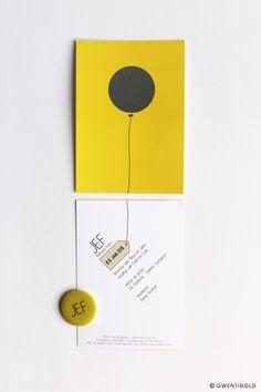 Portfolio of projects from thing maker Gwentibold, interior architect Gwen Dubois Baby Announcement Cards, Birth Announcements, Birth Gift, Baby Birth, Visual Communication Design, Leaflet Design, Baby Album, Invitation Design, Invite